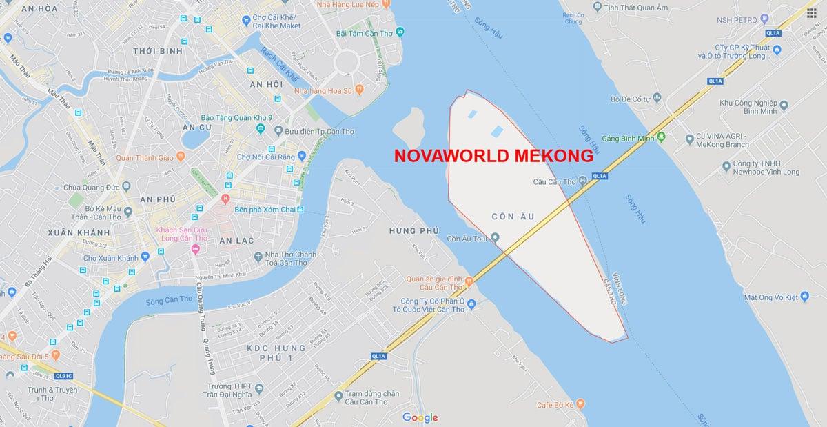 vi tri Du an Novaworld Mekong - DỰ ÁN NOVAWORLD MEKONG CẦN THƠ