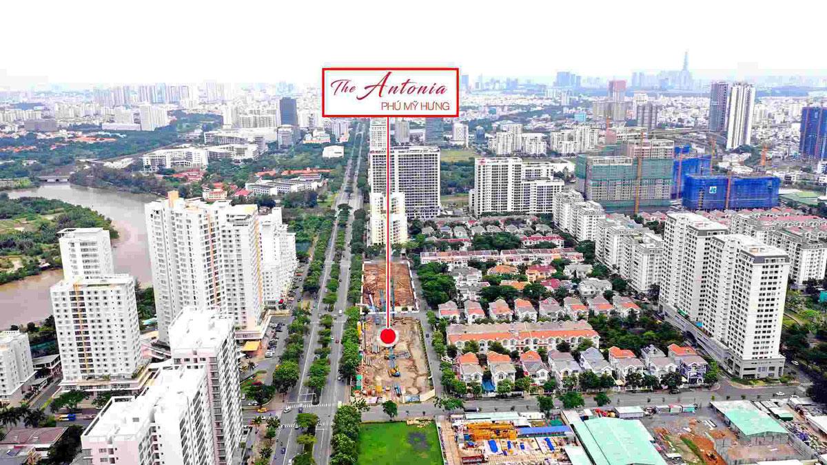 Vị trí Thực tế Dự án Căn hộ The Antonia Phú Mỹ Hưng Quận 7