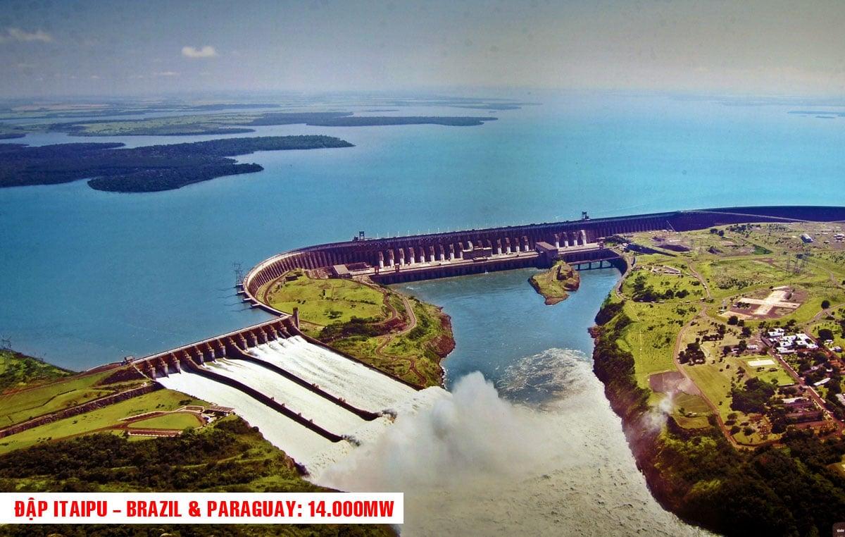Đập Itaipu Brazil Paraguay - TOP 10 NHÀ MÁY ĐẬP THỦY ĐIỆN LỚN NHẤT THẾ GIỚI HIỆN NAY 2021