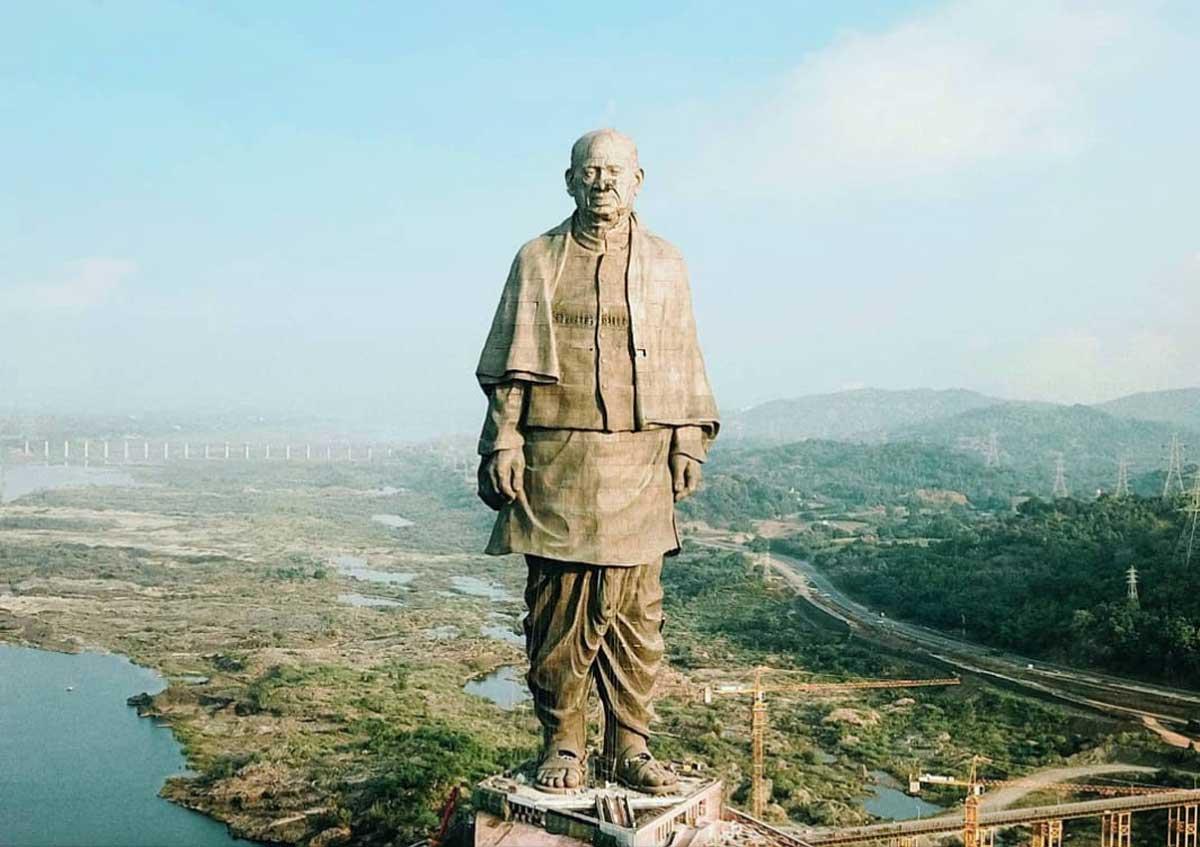 Bức Tượng Sardar Vallabhbhai Patel Cao nhất thế giới - TOP 10 BỨC TƯỢNG CAO NHẤT THẾ GIỚI CẬP NHẬT MỚI NHẤT NĂM 2021