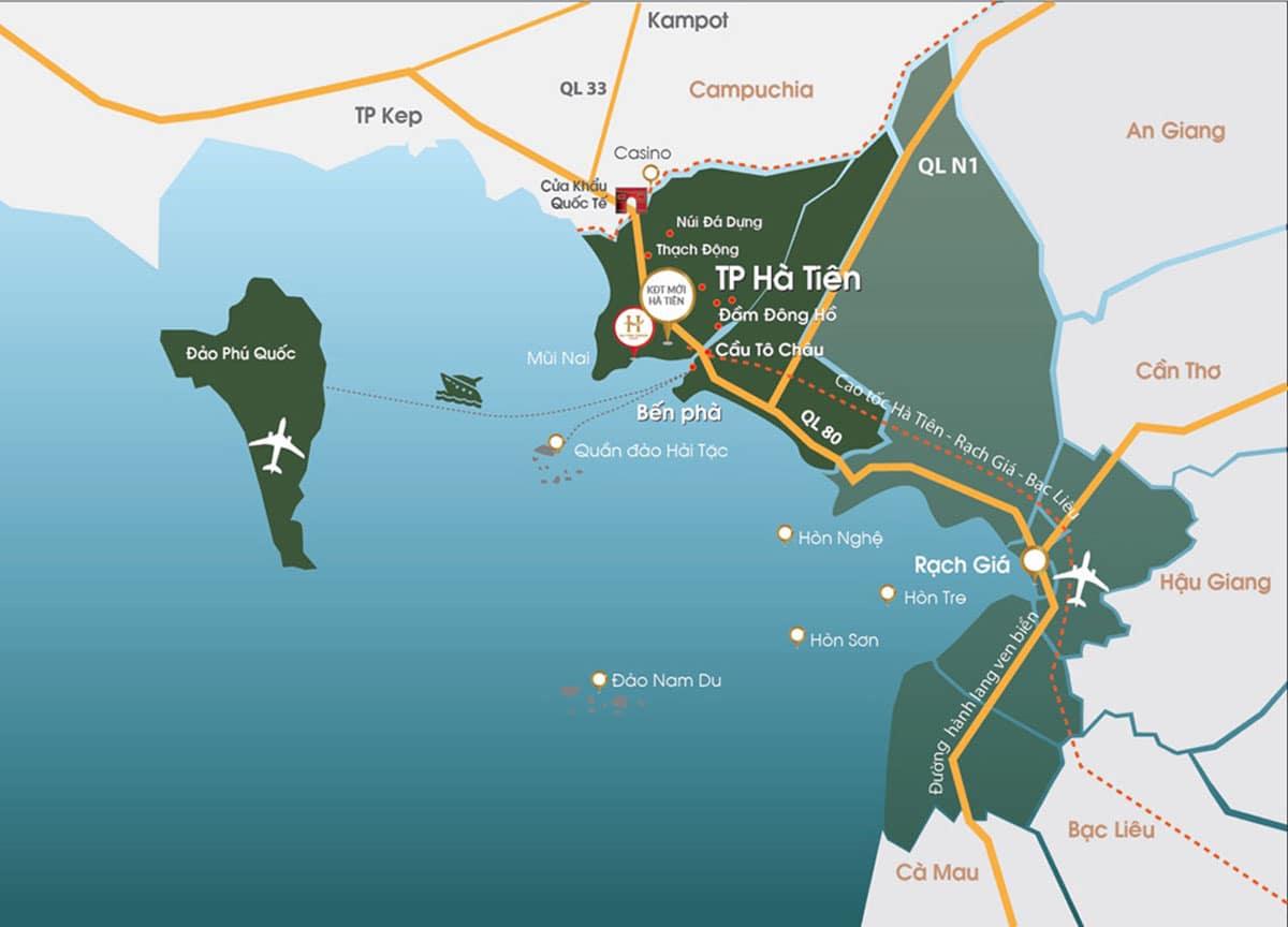 Bản đồ Tuyến Đường Cao tốc Hà Tiên Rạch Giá Bạc Liêu - Tuyến Đường Cao tốc Hà Tiên – Rạch Giá – Bạc Liêu cập nhật mới nhất
