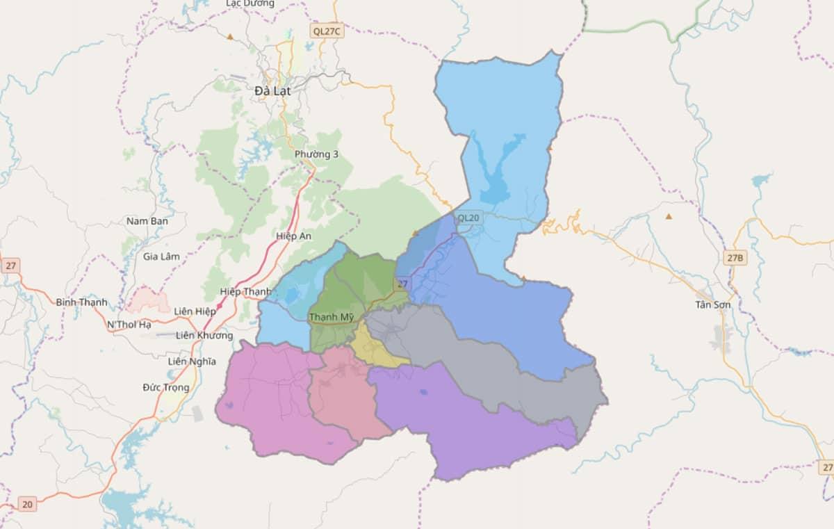 Bản đồ hành chính huyện Đơn Dương - BẢN ĐỒ HÀNH CHÍNH TỈNH LÂM ĐỒNG & THÔNG TIN QUY HOẠCH MỚI NHẤT 2021