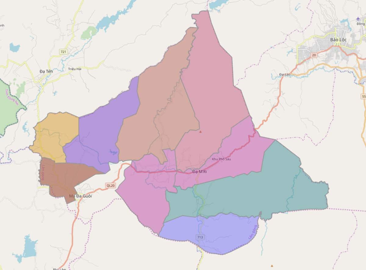 Bản đồ hành chính huyện Đạ Huoai - BẢN ĐỒ HÀNH CHÍNH TỈNH LÂM ĐỒNG & THÔNG TIN QUY HOẠCH MỚI NHẤT 2021
