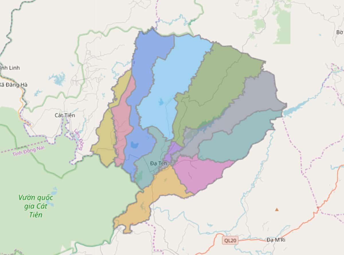 Bản đồ hành chính huyện Đạ Tẻh - BẢN ĐỒ HÀNH CHÍNH TỈNH LÂM ĐỒNG & THÔNG TIN QUY HOẠCH MỚI NHẤT 2021