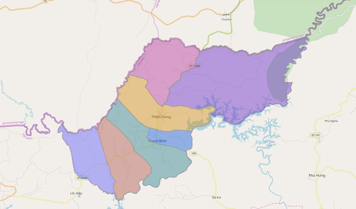 Bản đồ hành chính huyện Bù Đốp - BẢN ĐỒ HÀNH CHÍNH TỈNH BÌNH PHƯỚC & THÔNG TIN QUY HOẠCH MỚI NHẤT 2020