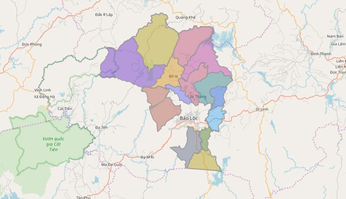 Bản đồ hành chính huyện Bảo Lâm - BẢN ĐỒ HÀNH CHÍNH TỈNH LÂM ĐỒNG & THÔNG TIN QUY HOẠCH MỚI NHẤT 2021