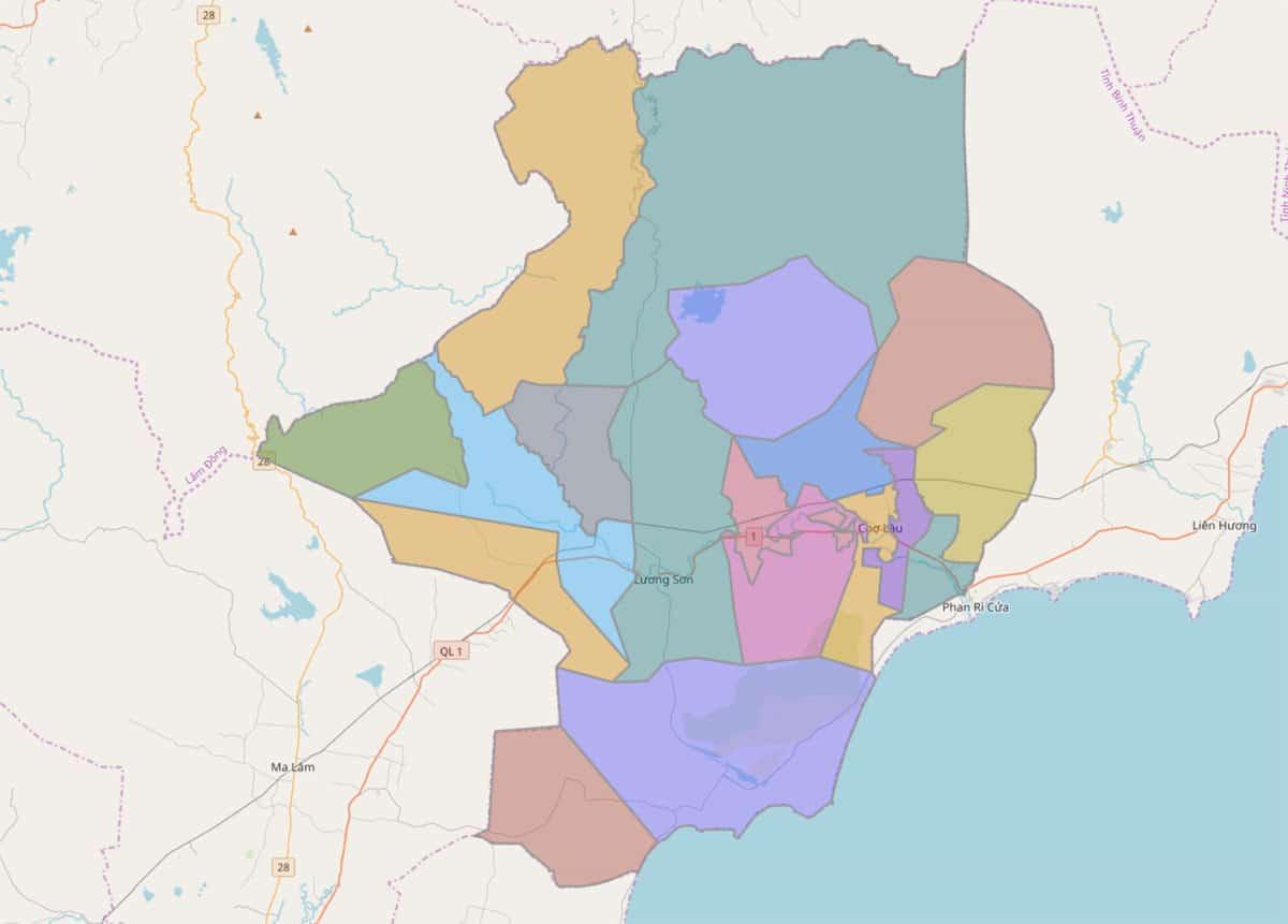 Bản đồ hành chính huyện Bắc Bình - BẢN ĐỒ HÀNH CHÍNH TỈNH BÌNH THUẬN & THÔNG TIN QUY HOẠCH MỚI NHẤT 2020