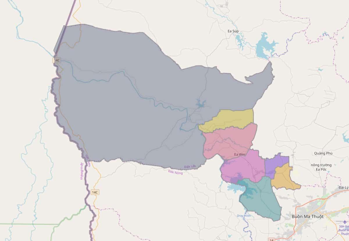 Bản đồ hành chính huyện Buôn Đôn - BẢN ĐỒ HÀNH CHÍNH TỈNH ĐẮK LẮK & THÔNG TIN QUY HOẠCH MỚI NHẤT 2021