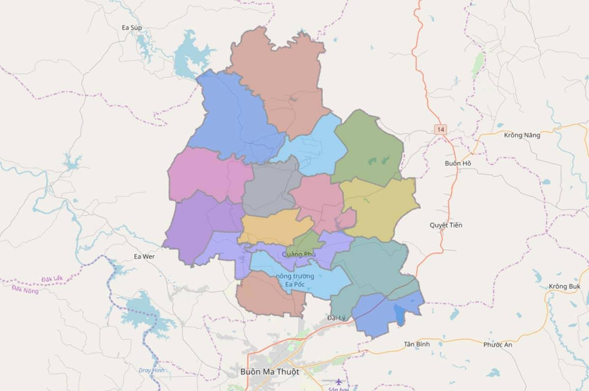 Bản đồ hành chính huyện Cư M'gar - BẢN ĐỒ HÀNH CHÍNH TỈNH ĐẮK LẮK & THÔNG TIN QUY HOẠCH MỚI NHẤT 2021