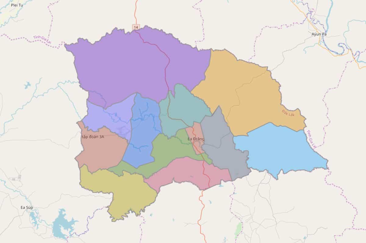 Bản đồ hành chính huyện Ea H'leo - BẢN ĐỒ HÀNH CHÍNH TỈNH ĐẮK LẮK & THÔNG TIN QUY HOẠCH MỚI NHẤT 2021