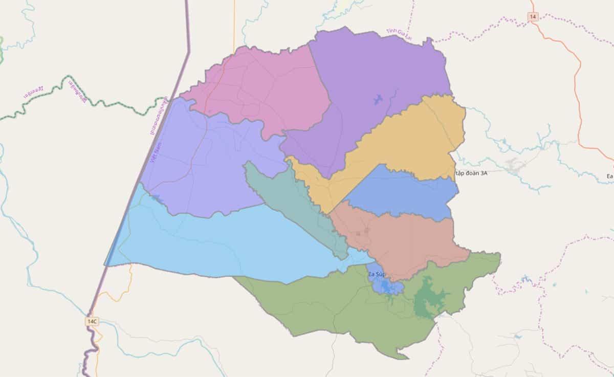 Bản đồ hành chính huyện Ea Súp - BẢN ĐỒ HÀNH CHÍNH TỈNH ĐẮK LẮK & THÔNG TIN QUY HOẠCH MỚI NHẤT 2021