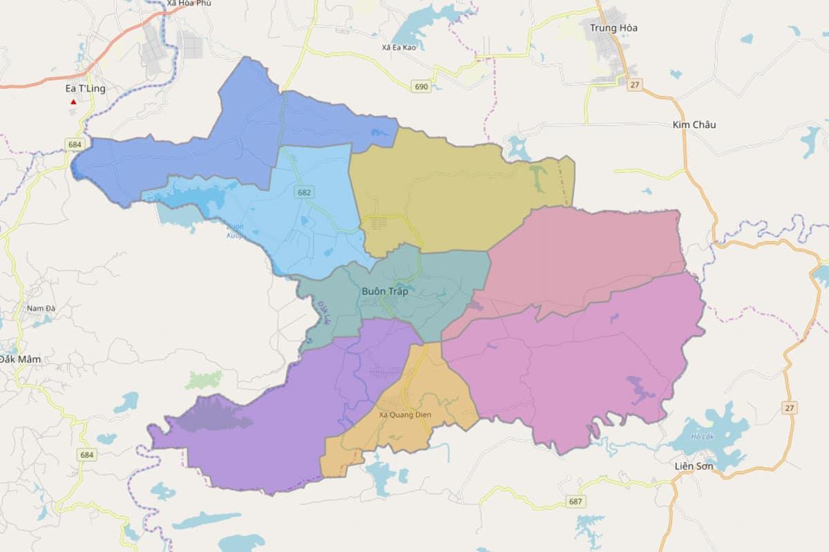 Bản đồ hành chính huyện Krông A Na - BẢN ĐỒ HÀNH CHÍNH TỈNH ĐẮK LẮK & THÔNG TIN QUY HOẠCH MỚI NHẤT 2021