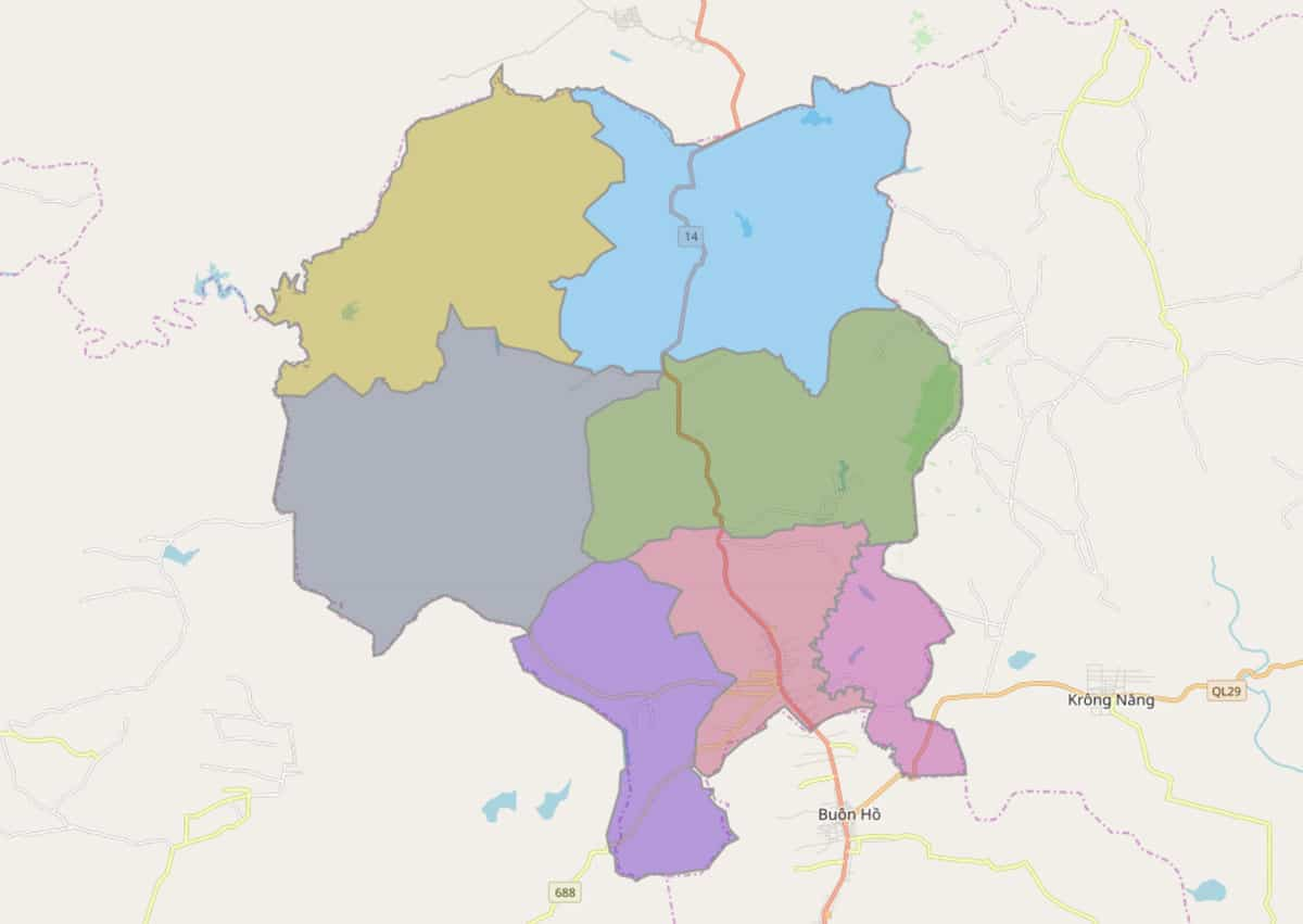 Bản đồ hành chính huyện Krông Búk - BẢN ĐỒ HÀNH CHÍNH TỈNH ĐẮK LẮK & THÔNG TIN QUY HOẠCH MỚI NHẤT 2021
