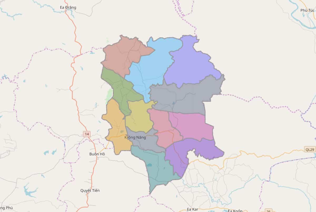 Bản đồ hành chính huyện Krông Năng - BẢN ĐỒ HÀNH CHÍNH TỈNH ĐẮK LẮK & THÔNG TIN QUY HOẠCH MỚI NHẤT 2021