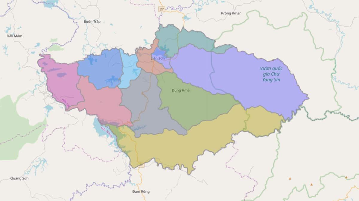Bản đồ hành chính huyện Lắk - BẢN ĐỒ HÀNH CHÍNH TỈNH ĐẮK LẮK & THÔNG TIN QUY HOẠCH MỚI NHẤT 2021