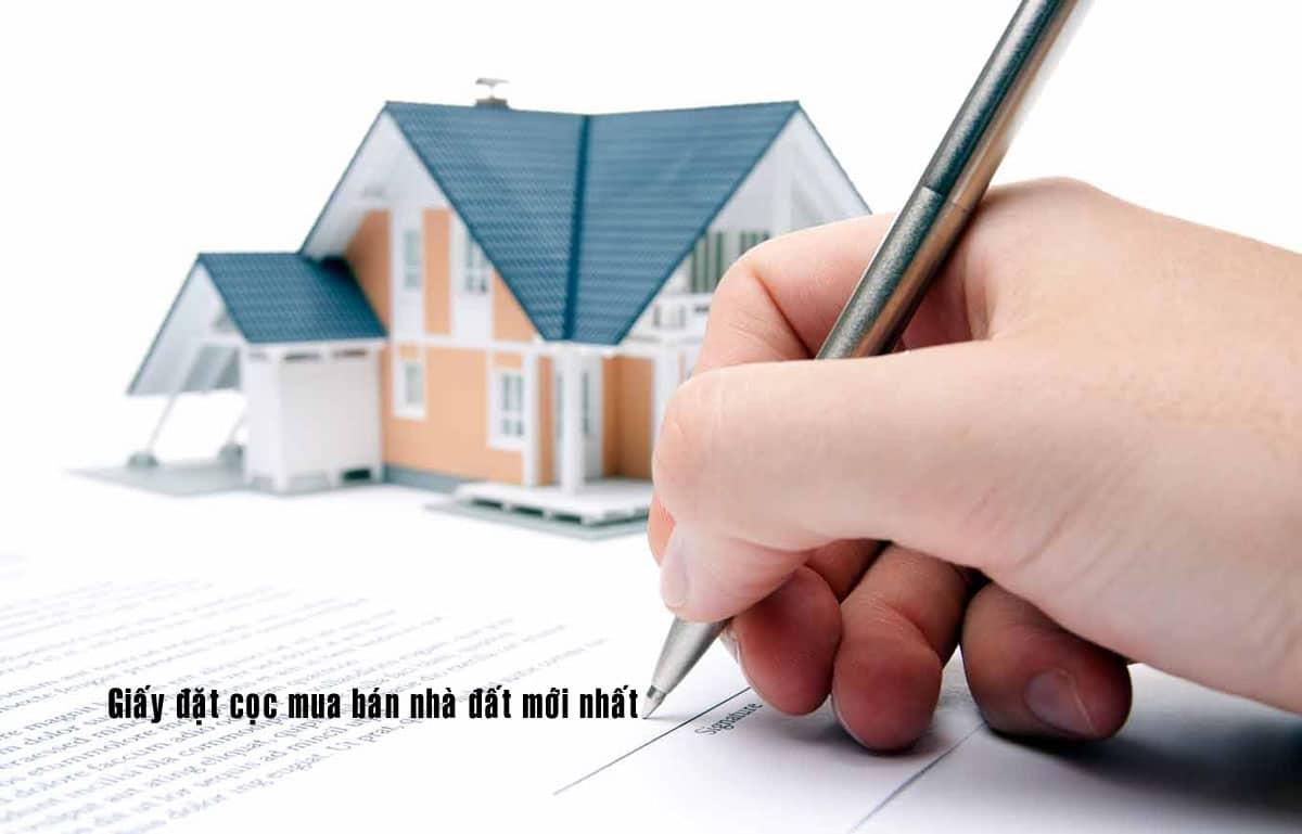 Giấy đặt cọc mua nhà - MẪU GIẤY ĐẶT CỌC TIỀN MUA BÁN NHÀ ĐẤT MỚI NHẤT 2020