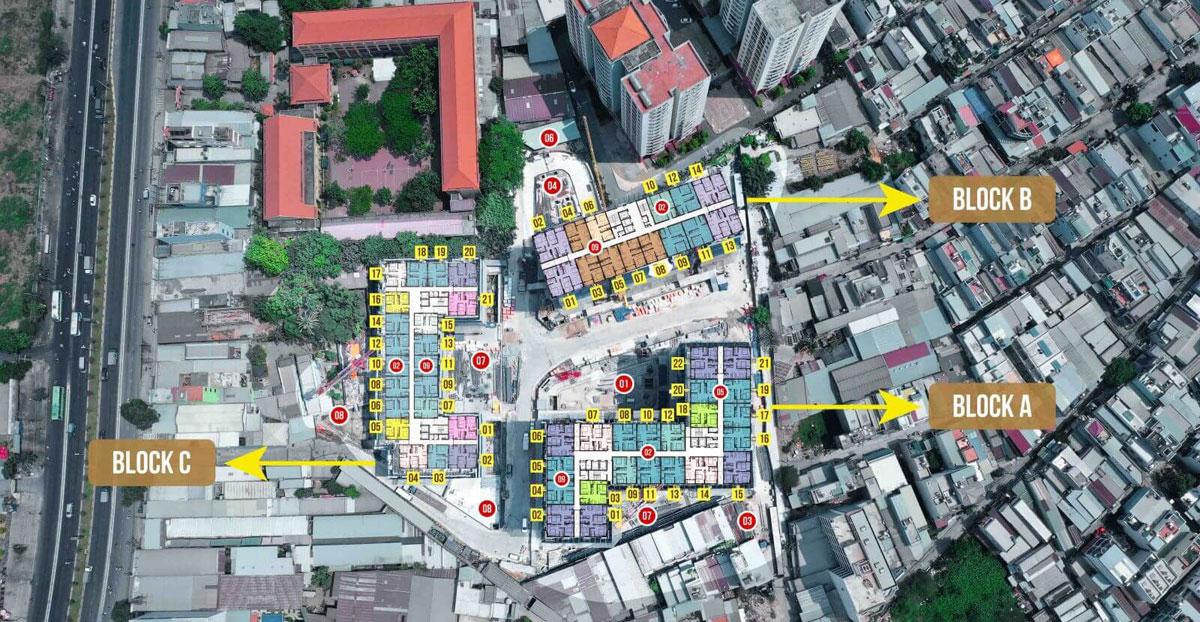 MAT BANG DU AN IMPERIAL PALACE - DỰ ÁN CĂN HỘ IMPERIAL PLACE BÌNH TÂN