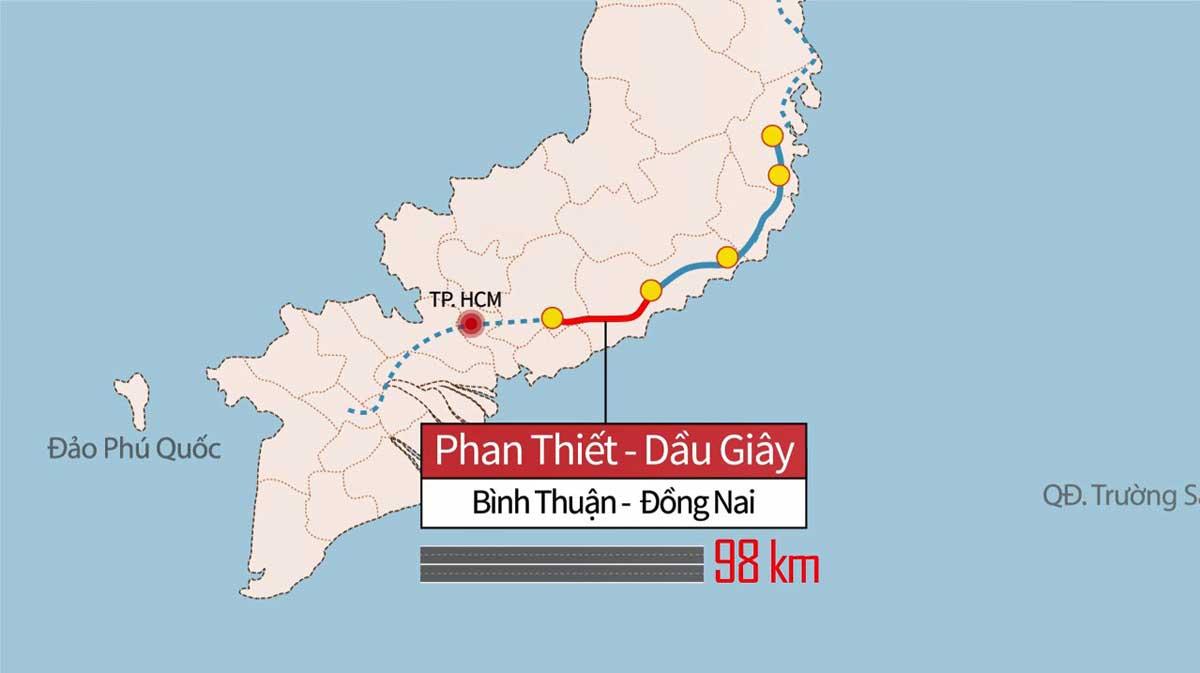 Quy hoạch Cao tốc Phan Thiết – Dầu Giây - TIẾN ĐỘ THI CÔNG CAO TỐC PHAN THIẾT – DẦU GIÂY MỚI NHẤT 2021