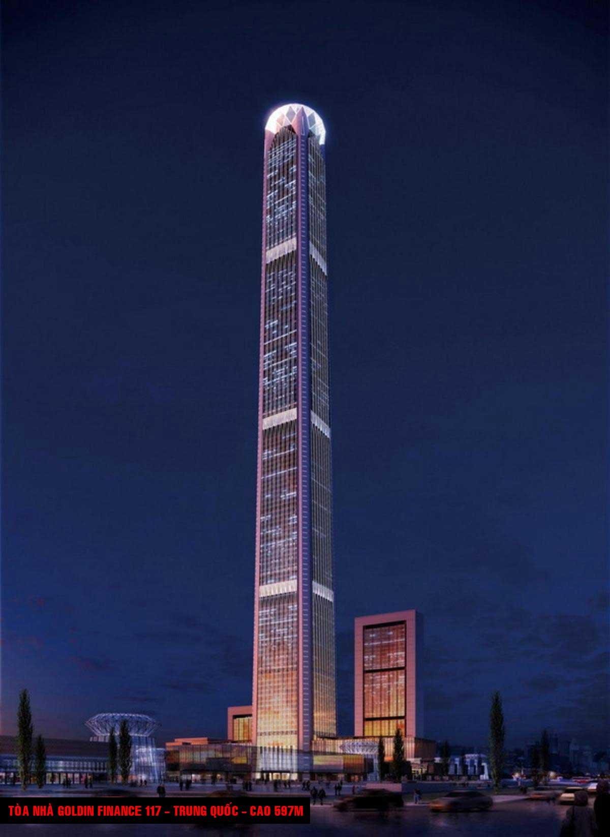 Tòa nhà Goldin Finance 117 Trung Quốc Cao 597m - TOP 16 TÒA NHÀ CAO NHẤT THẾ GIỚI CẬP NHẬT MỚI NHẤT NĂM 2021