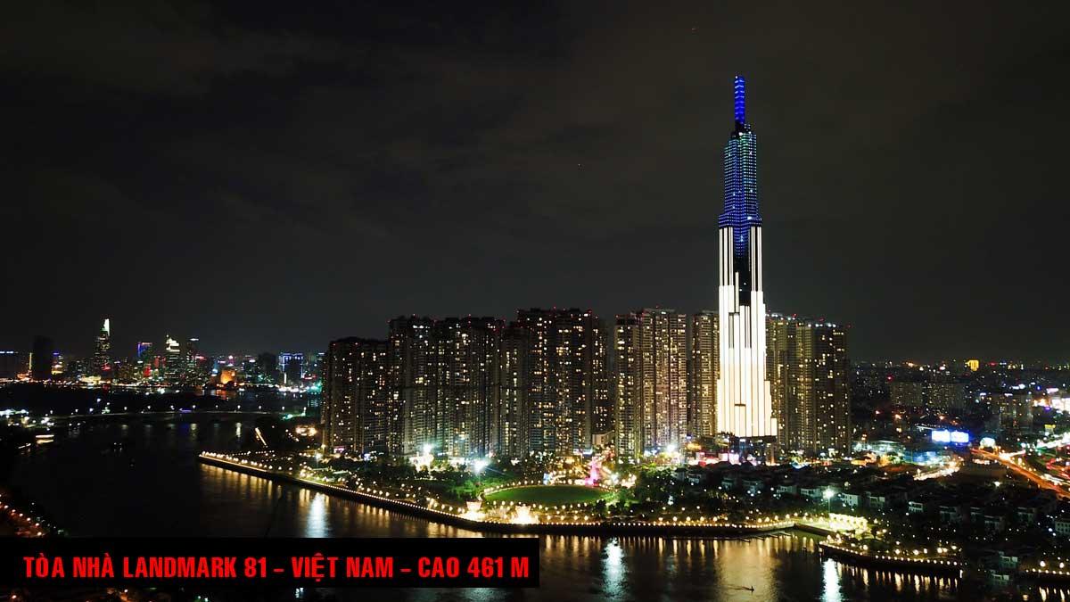 Tòa nhà Landmark 81 Việt Nam Cao 461 m - TOP 16 TÒA NHÀ CAO NHẤT THẾ GIỚI CẬP NHẬT MỚI NHẤT NĂM 2021