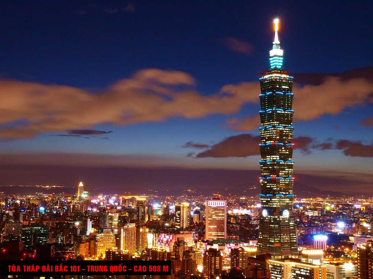 Tòa tháp Đài Bắc 101 Trung Quốc Cao 508 m - TOP 16 TÒA NHÀ CAO NHẤT THẾ GIỚI CẬP NHẬT MỚI NHẤT NĂM 2021
