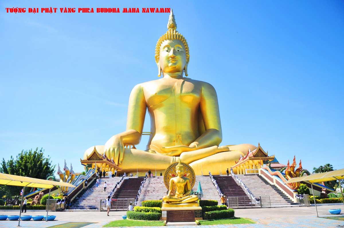 Tượng Đại Phật Vàng Phra Buddha Maha Nawamin - TOP 10 BỨC TƯỢNG CAO NHẤT THẾ GIỚI CẬP NHẬT MỚI NHẤT NĂM 2021