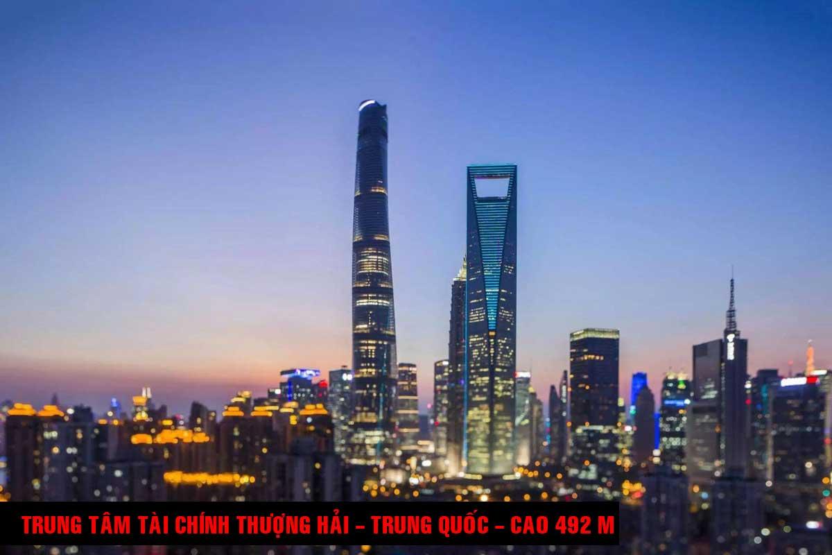 Trung tâm Tài chính Thượng Hải Trung Quốc Cao 492 m - TOP 16 TÒA NHÀ CAO NHẤT THẾ GIỚI CẬP NHẬT MỚI NHẤT NĂM 2021