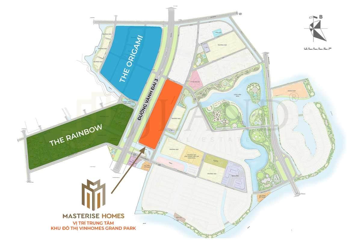 Vị trí Masterise Homes Q9 tai KDT Vinhomes Grand Park - DỰ ÁN CĂN HỘ MASTERISE GRAND PARK QUẬN 9