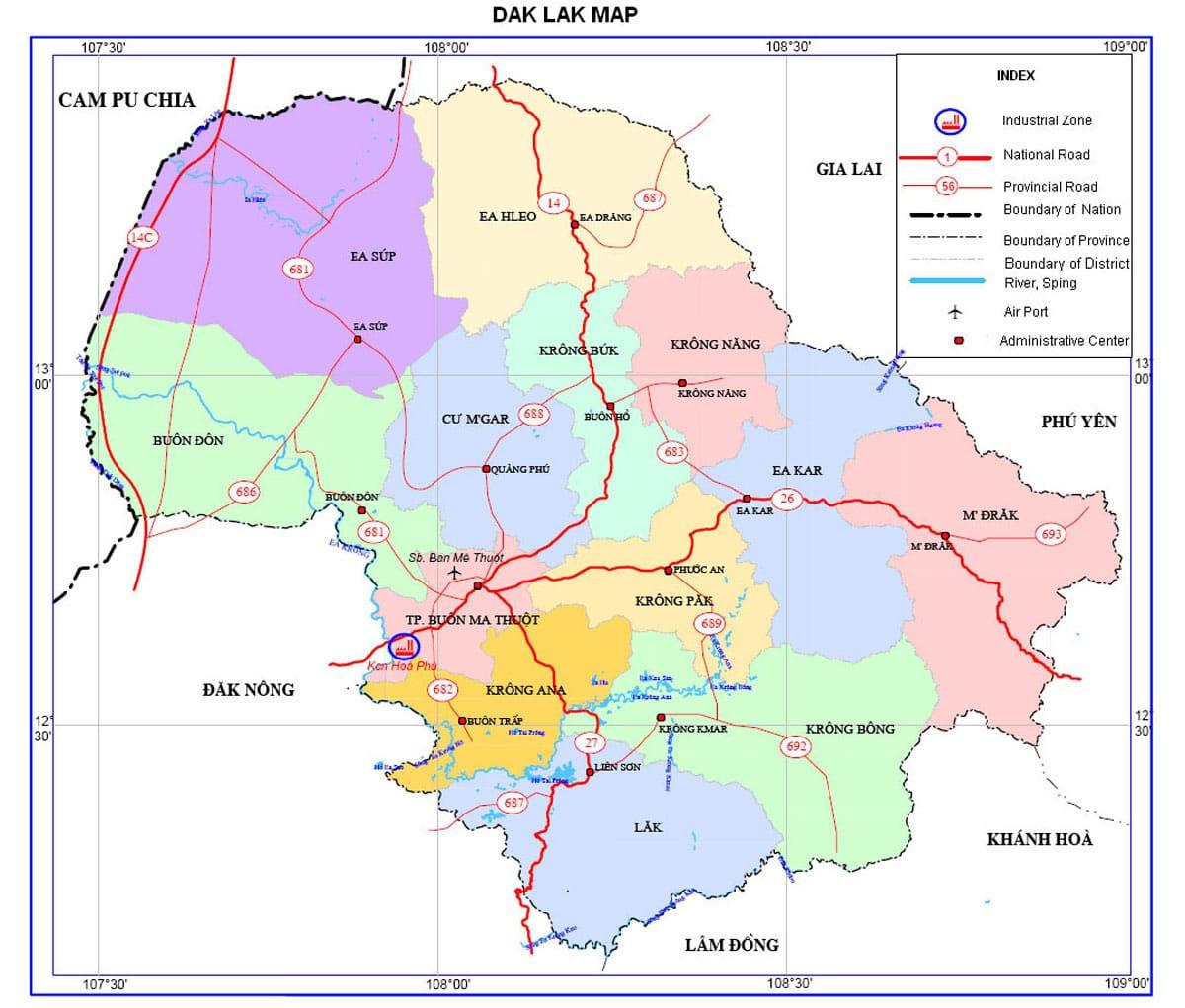 bản đồ quy hoạch tỉnh đắk lắk - BẢN ĐỒ HÀNH CHÍNH TỈNH ĐẮK LẮK & THÔNG TIN QUY HOẠCH MỚI NHẤT 2021