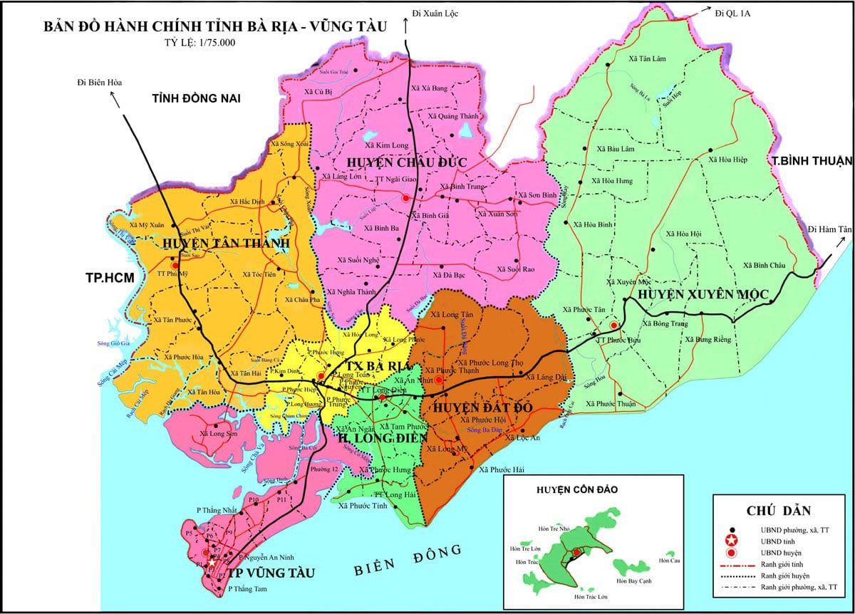 ban do hanh chinh tinh ba ria vung tau - BẢN ĐỒ HÀNH CHÍNH TỈNH BÀ RỊA-VŨNG TÀU & THÔNG TIN QUY HOẠCH MỚI NHẤT 2020