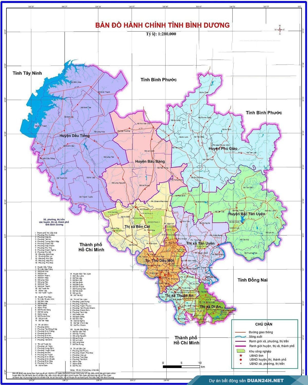 ban do hanh chinh tinh binh duong - Định hướng quy hoạch Tỉnh Bình Dương mới nhất