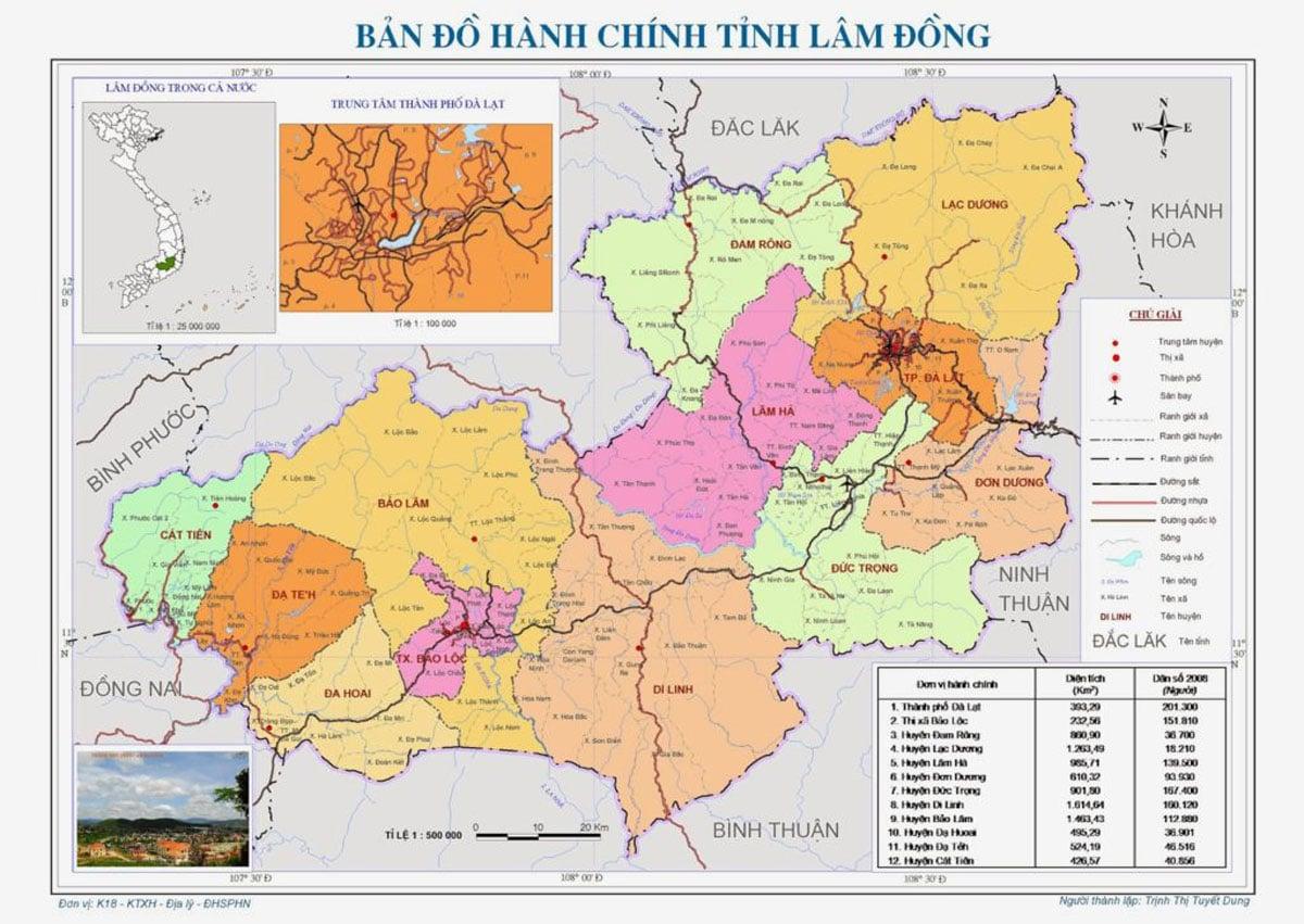 ban do hanh chinh tinh lam dong - BẢN ĐỒ HÀNH CHÍNH TỈNH LÂM ĐỒNG & THÔNG TIN QUY HOẠCH MỚI NHẤT 2021