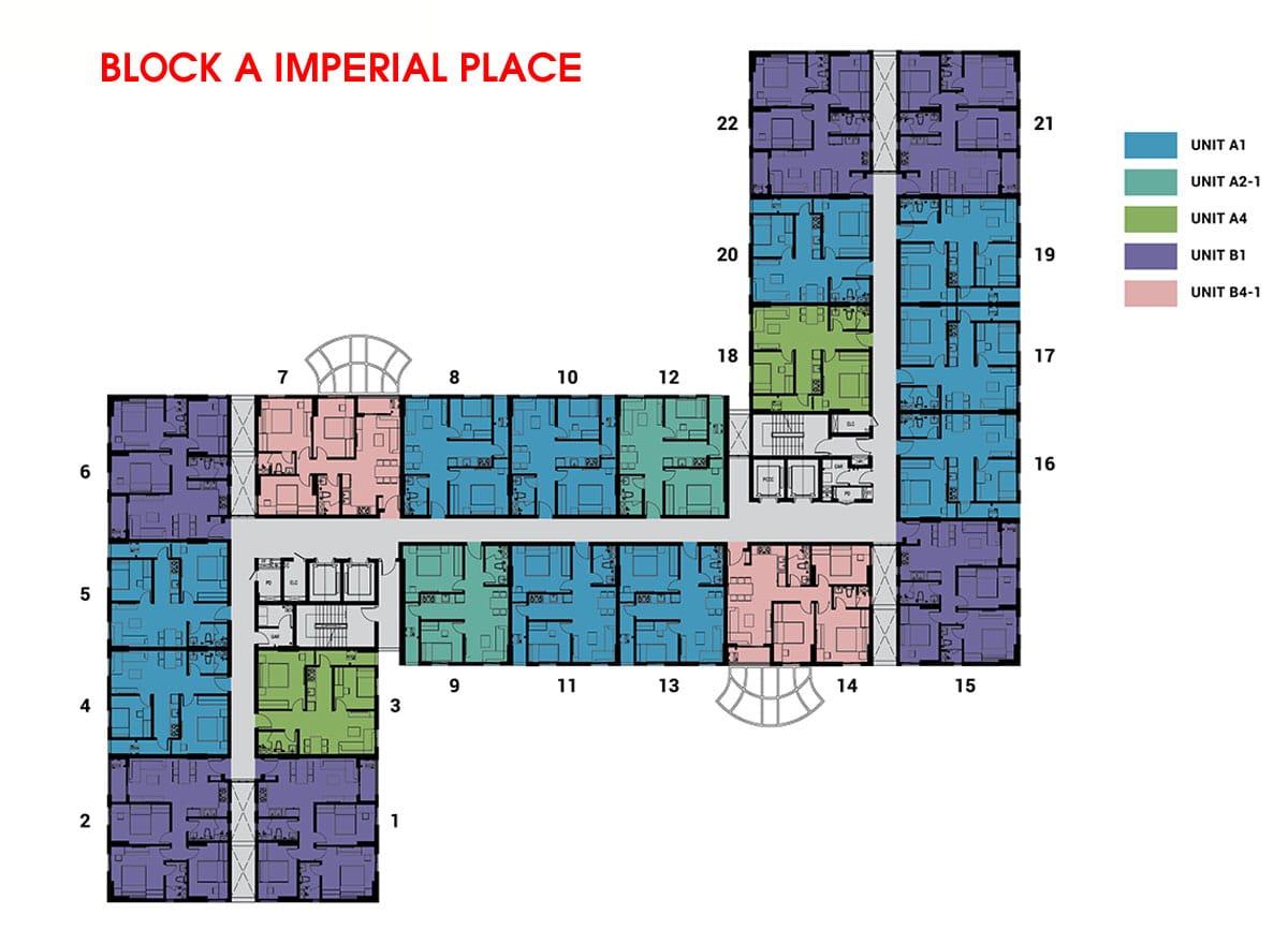 mat bang Block A imperial palace - DỰ ÁN CĂN HỘ IMPERIAL PLACE BÌNH TÂN