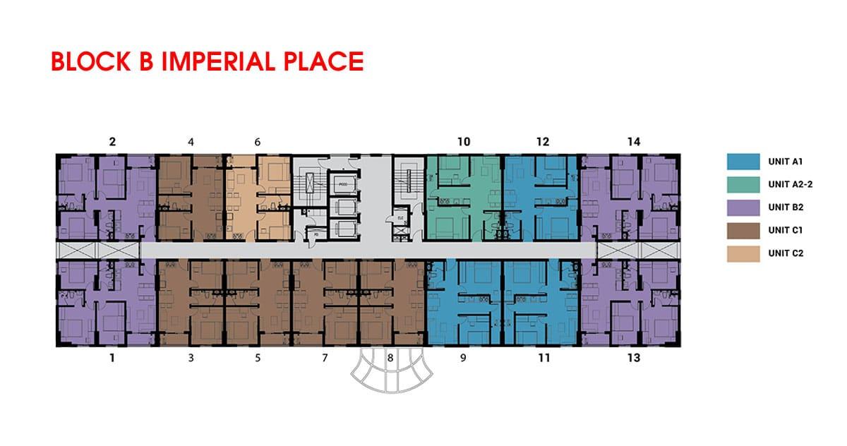 mat bang Block B imperial palace - DỰ ÁN CĂN HỘ IMPERIAL PLACE BÌNH TÂN