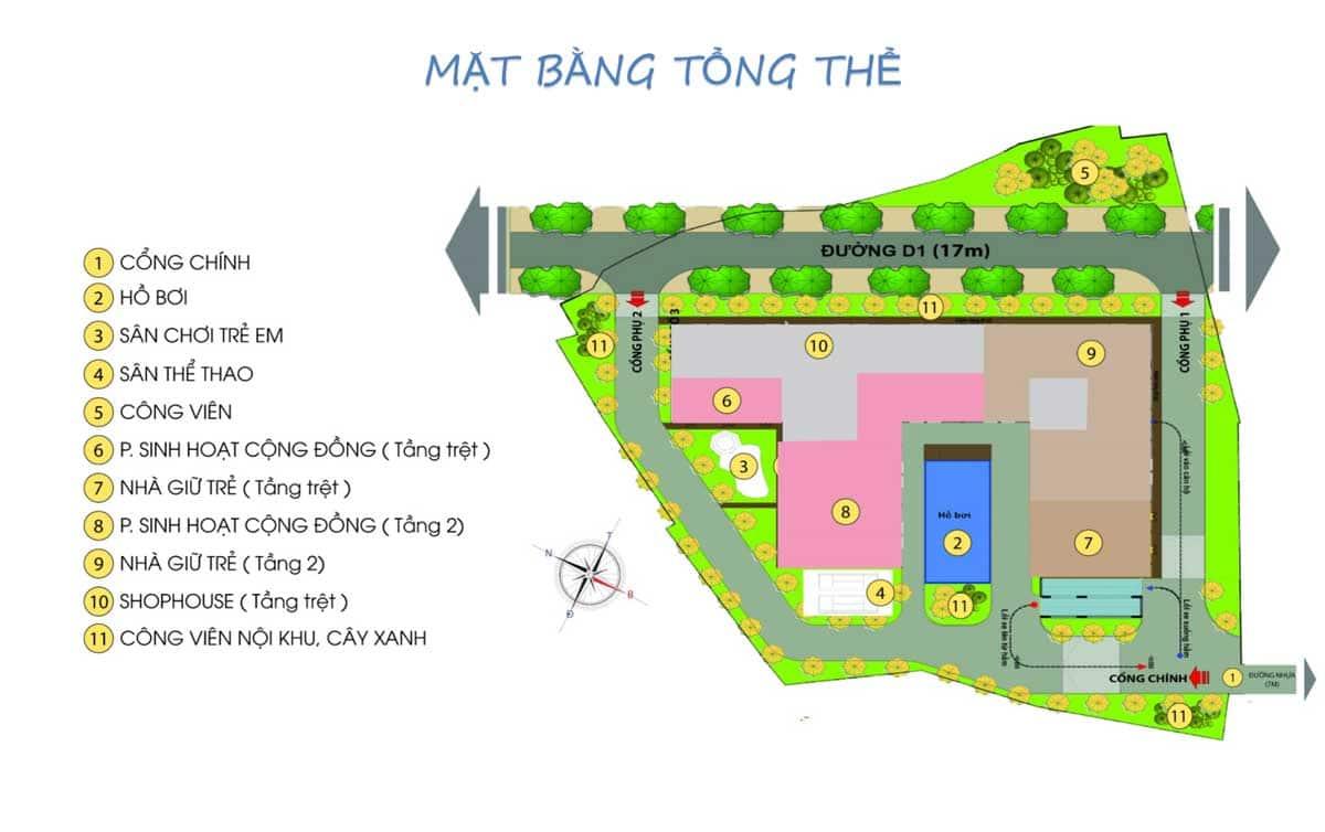 mat bang tong the du an Bcons Green View 2 - DỰ ÁN CĂN HỘ BCONS GREEN VIEW DĨ AN BÌNH DƯƠNG