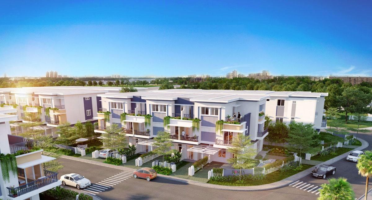 phoi canh du an kdc binh chanh new center - DỰ ÁN ĐẤT NỀN BÌNH CHÁNH NEW CENTER