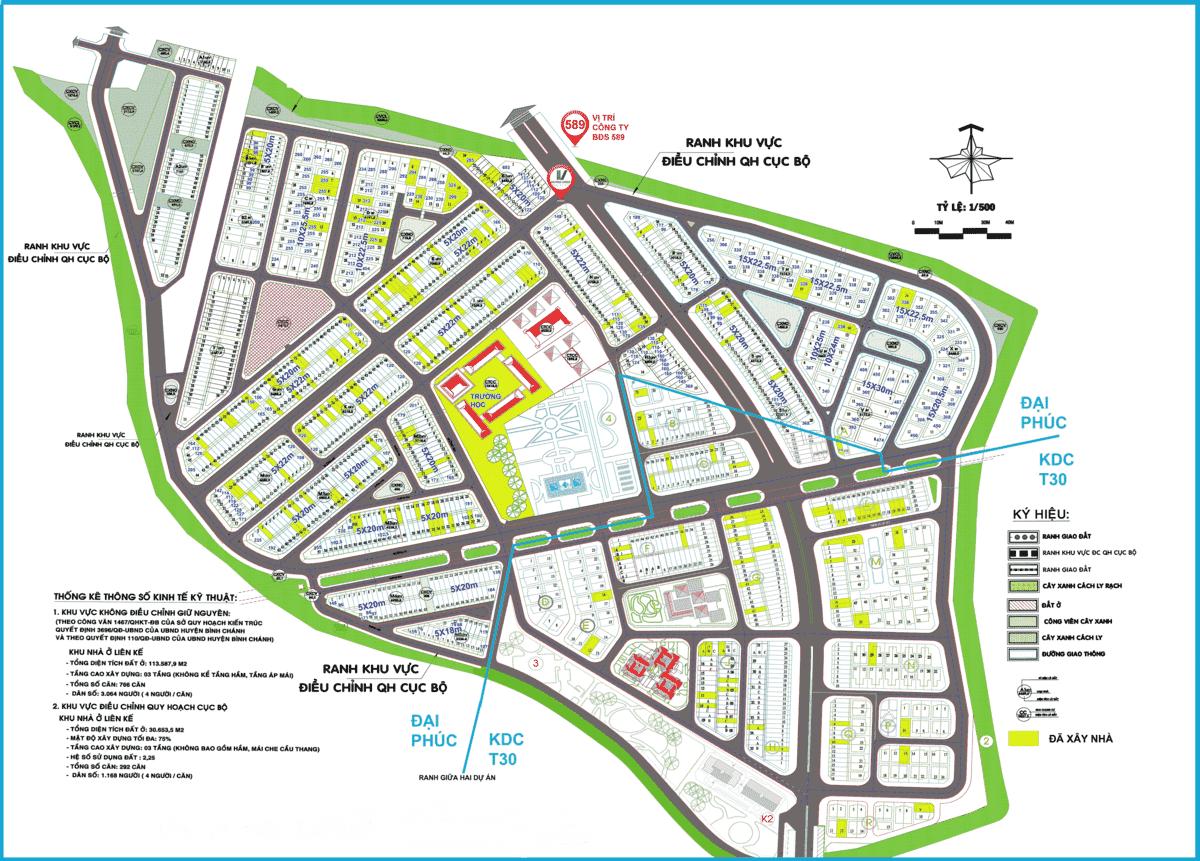 Một ví dụ tham khảo Quy hoạch 1/500 khu dân cư