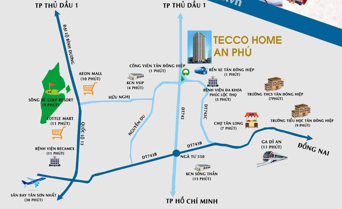 vị trí dự án căn hộ tecco home an phú bình dương - DỰ ÁN CĂN HỘ TECCO HOME AN PHÚ BÌNH DƯƠNG