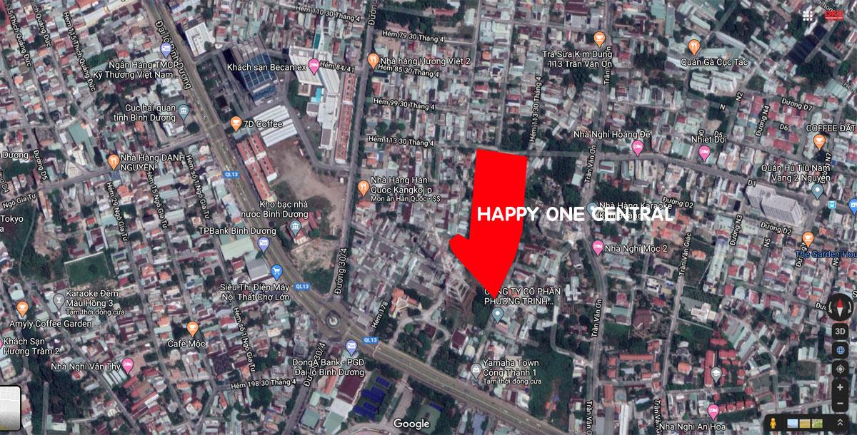 vi tri du an happy one central binh duong - DỰ ÁN CĂN HỘ HAPPY ONE CENTRAL BÌNH DƯƠNG