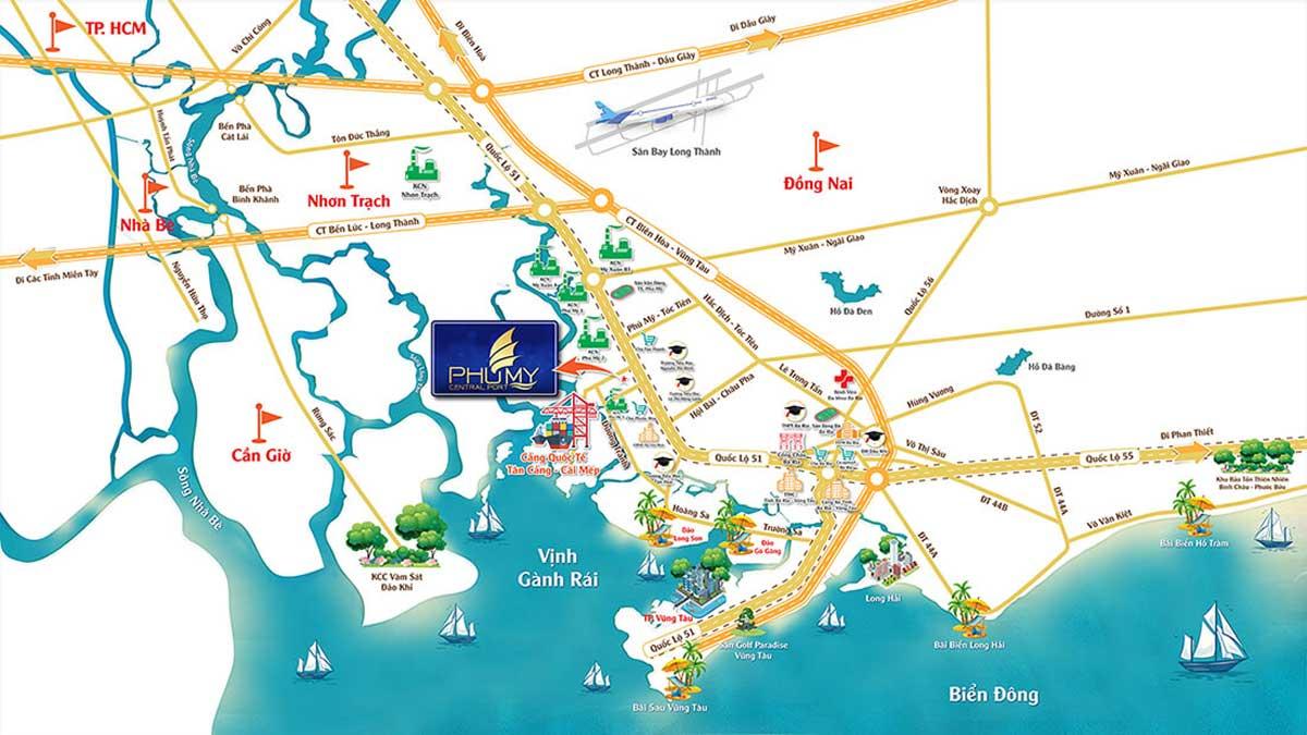 vi tri phu my central port - DỰ ÁN PHÚ MỸ CENTRAL PORT BÀ RỊA VŨNG TÀU