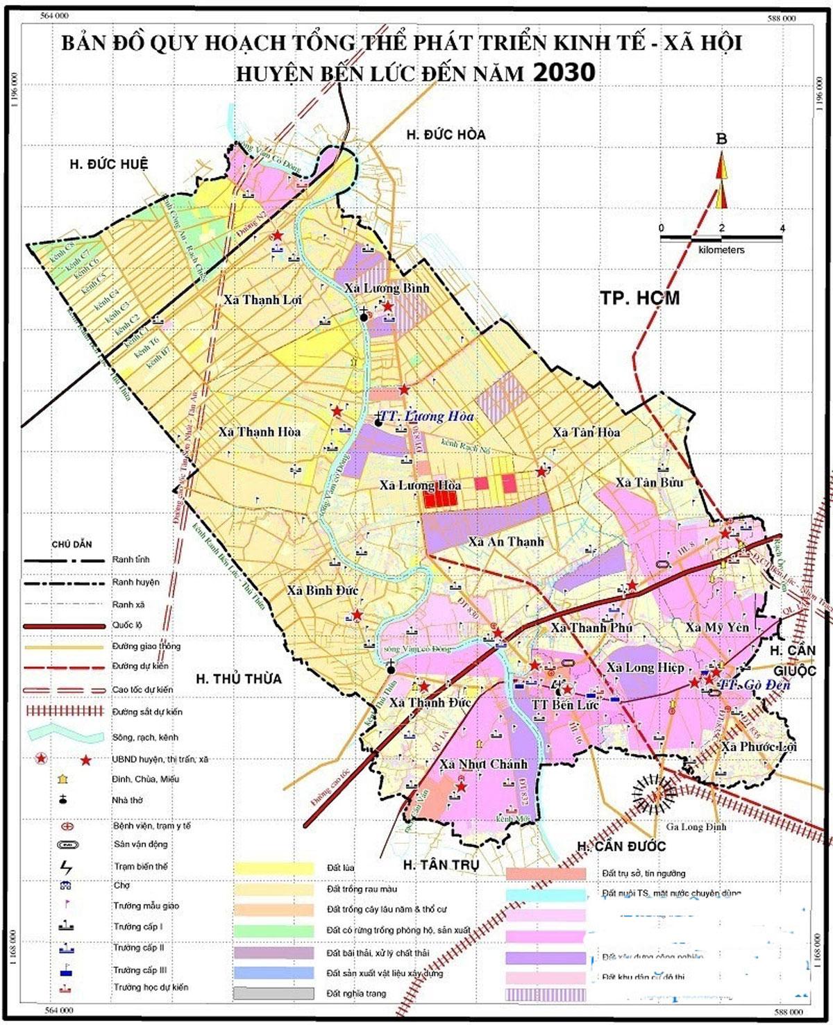 Bản đồ Quy hoạch huyện Bến Lức - THÔNG TIN BẢN ĐỒ QUY HOẠCH HUYỆN BẾN LỨC - LONG AN