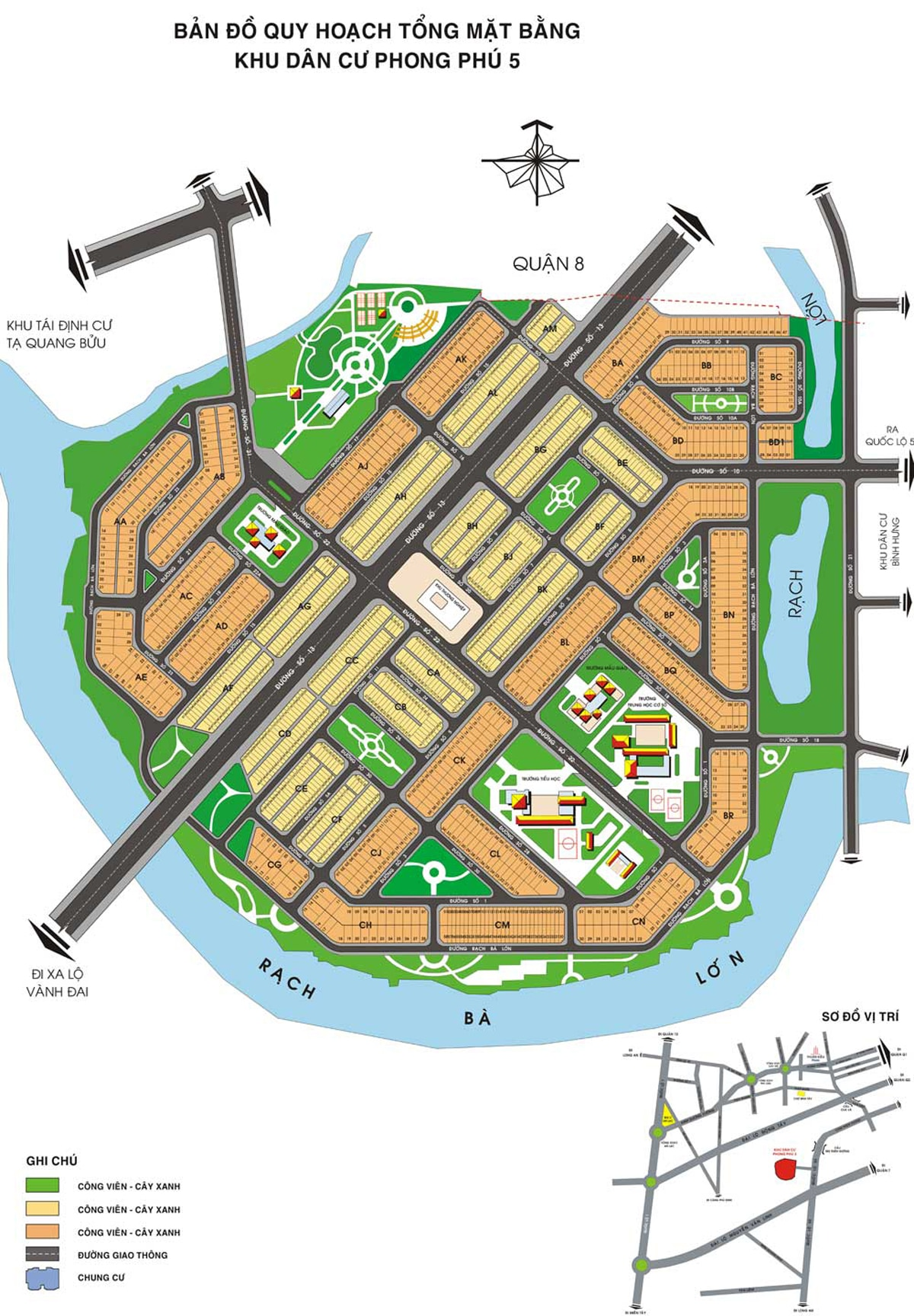 mat bang Du an The Green Village - DỰ ÁN THE GREEN VILLAGE KHANG ĐIỀN BÌNH CHÁNH