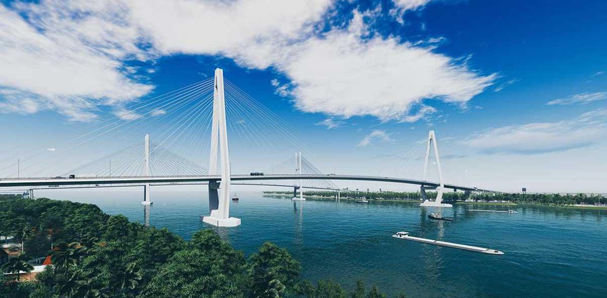 phoi canh cau my thuan 2 - Khởi Công Xây dựng cầu Mỹ Thuận 2