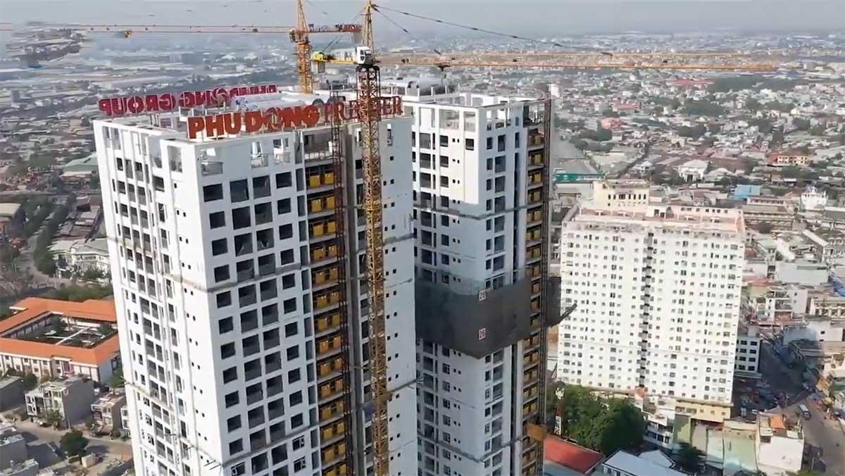 tien do thi cong Dự án Phú Đông Premier 1 - CẬP NHẬT DỰ ÁN CĂN HỘ ĐƯỜNG PHẠM VĂN ĐỒNG TPHCM 2020