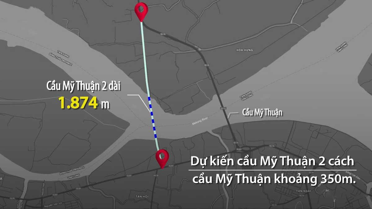 vi tri du an cau my thuan 2 - Khởi Công Xây dựng cầu Mỹ Thuận 2