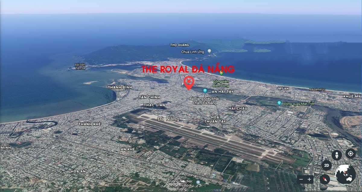 vi tri du an the royal da nang - DỰ ÁN CĂN HỘ THE ROYAL ĐÀ NẴNG