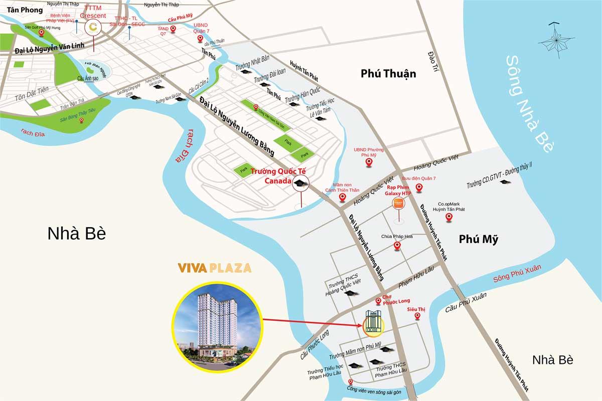 vi tri viva plaza - VIVA PLAZA QUẬN 7