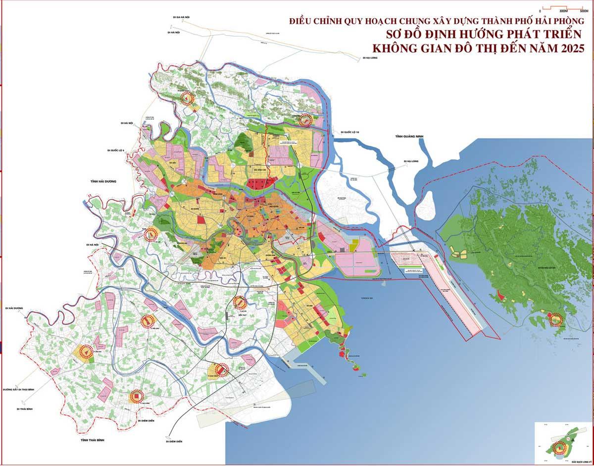 Đồ án quy hoạch đô thị Hải Phòng đến 2050 - BẢN ĐỒ HÀNH CHÍNH THÀNH PHỐ HẢI PHÒNG & THÔNG TIN QUY HOẠCH HẢI PHÒNG MỚI NHẤT