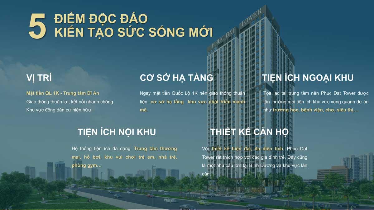 5 diem doc dao tai phuc dat tower - PHÚC ĐẠT TOWER