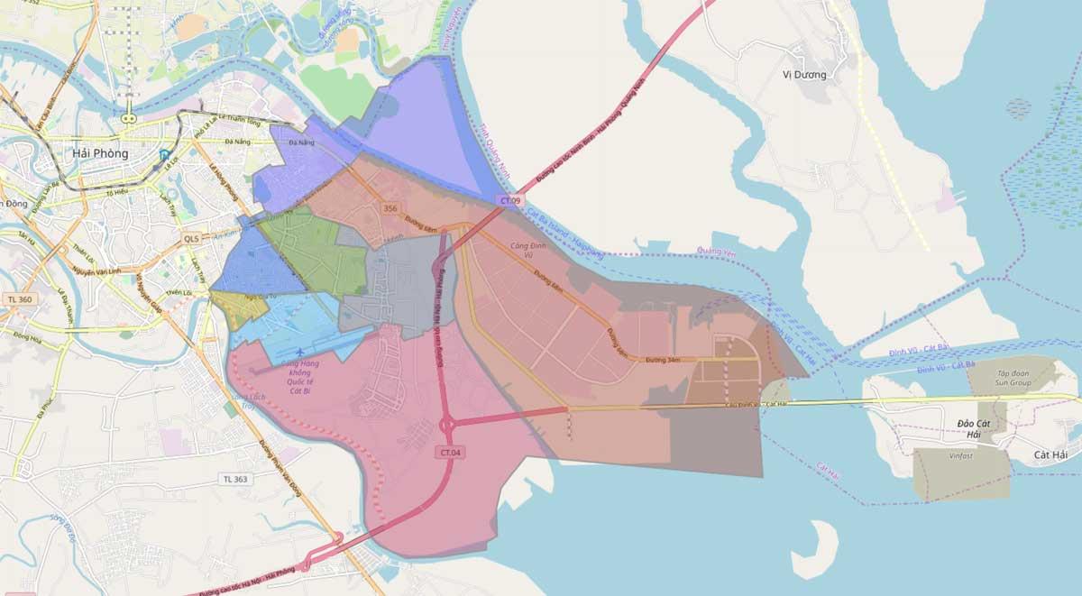 Bản đồ hành chính Quận Hải An TP Hải Phòng - BẢN ĐỒ HÀNH CHÍNH THÀNH PHỐ HẢI PHÒNG & THÔNG TIN QUY HOẠCH HẢI PHÒNG MỚI NHẤT